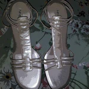 New Ladies Taupe Nine West Gladiator Style Sandals